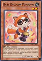 Baby Raccoon Ponpoko - SHSP-EN014 - Common - Unlimited Edition