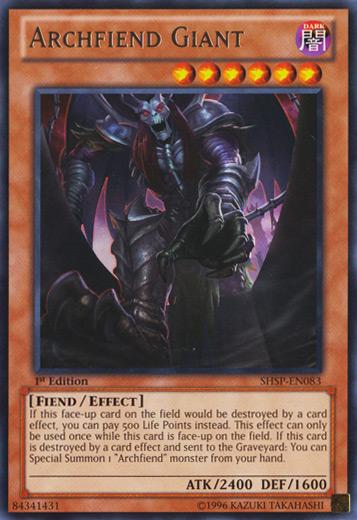 Archfiend Giant - SHSP-EN083 - Rare - Unlimited Edition