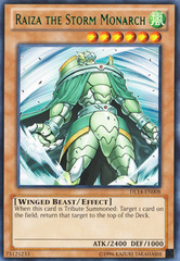 Raiza the Storm Monarch - Green - DL14-EN008 - Rare - Unlimited Edition